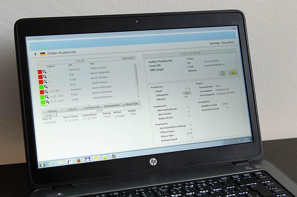 Screen-Bild des Verkaufsinformationssystems